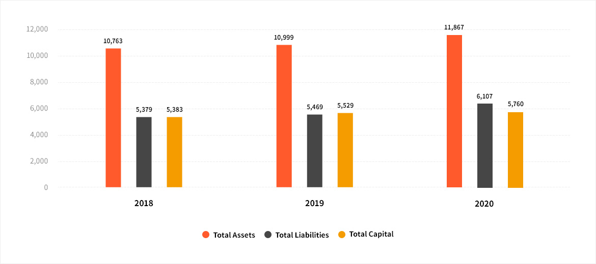 Total Assets | Total Liabilities | Total Capital